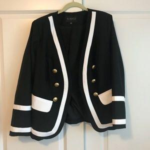 NWT Eloquii black and white blazer size 28